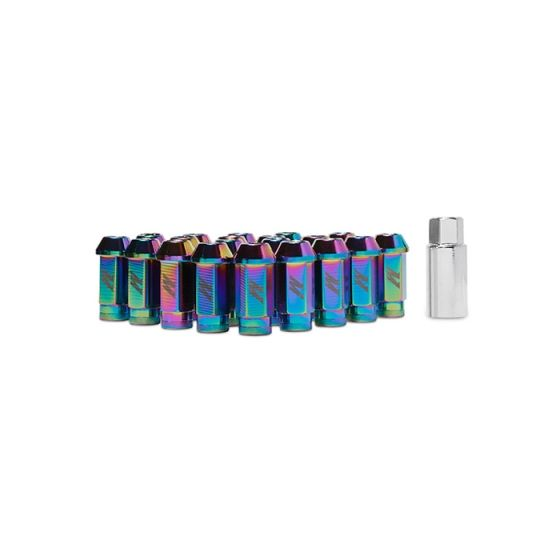 Mishimoto Aluminium Locking Lug Nuts – Aluminium Locking Lug Nuts, M12 x 1.25, Neo Chrome, Silver