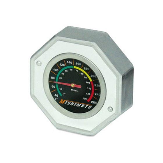 Mishimoto Temperature Gauge 1.3 Bar Radiator Cap, Large, Silver