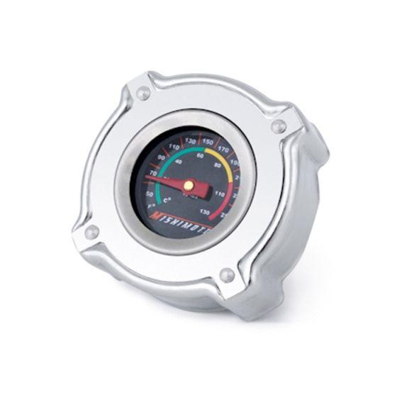 Mishimoto Temperature Gauge 1.3 Bar Radiator Cap, Small, Silver