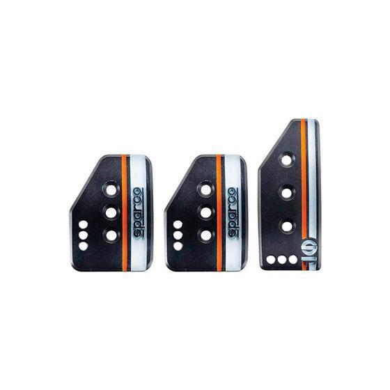 Sparco Settanta Pedal Set – 2 Pedal, Tall Accelerator, Black