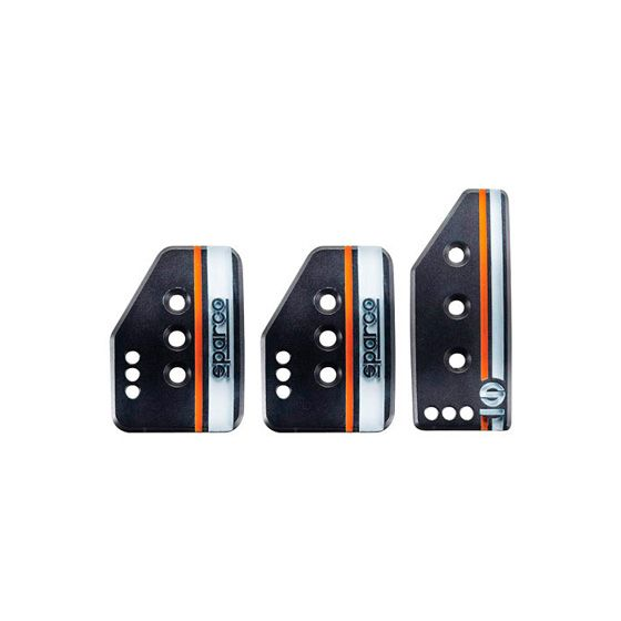 Sparco Settanta Pedal Set – 3 Pedal, Normal Height Accelerator, Silver