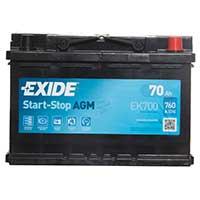 Exide AGM Car Battery 096 EK700