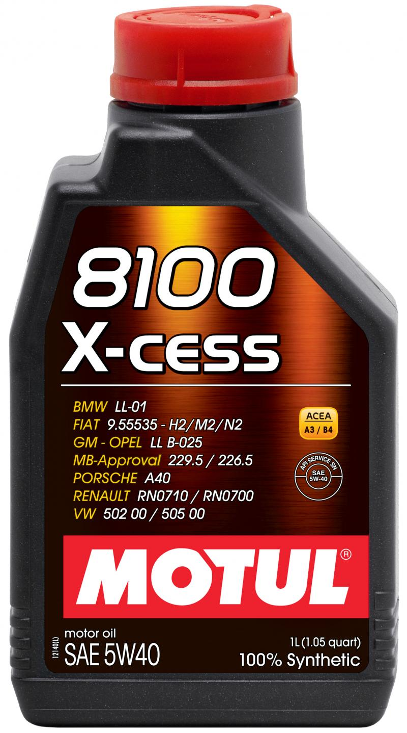 Motul 8100 X-CESS 5W40 – 1L – Synthetic Engine Oil