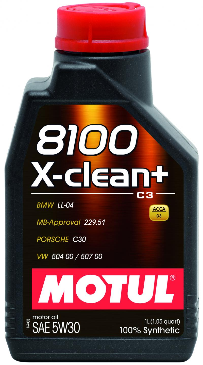 Motul 8100 X-CLEAN + 5W30 – 1L – Synthetic Engine Oil