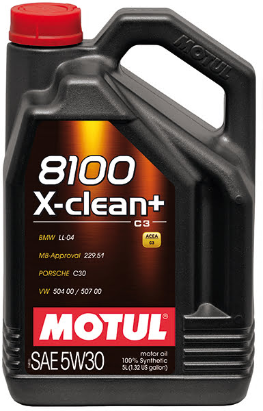 Motul 8100 X-CLEAN + 5W30 – 5L – Synthetic Engine Oil