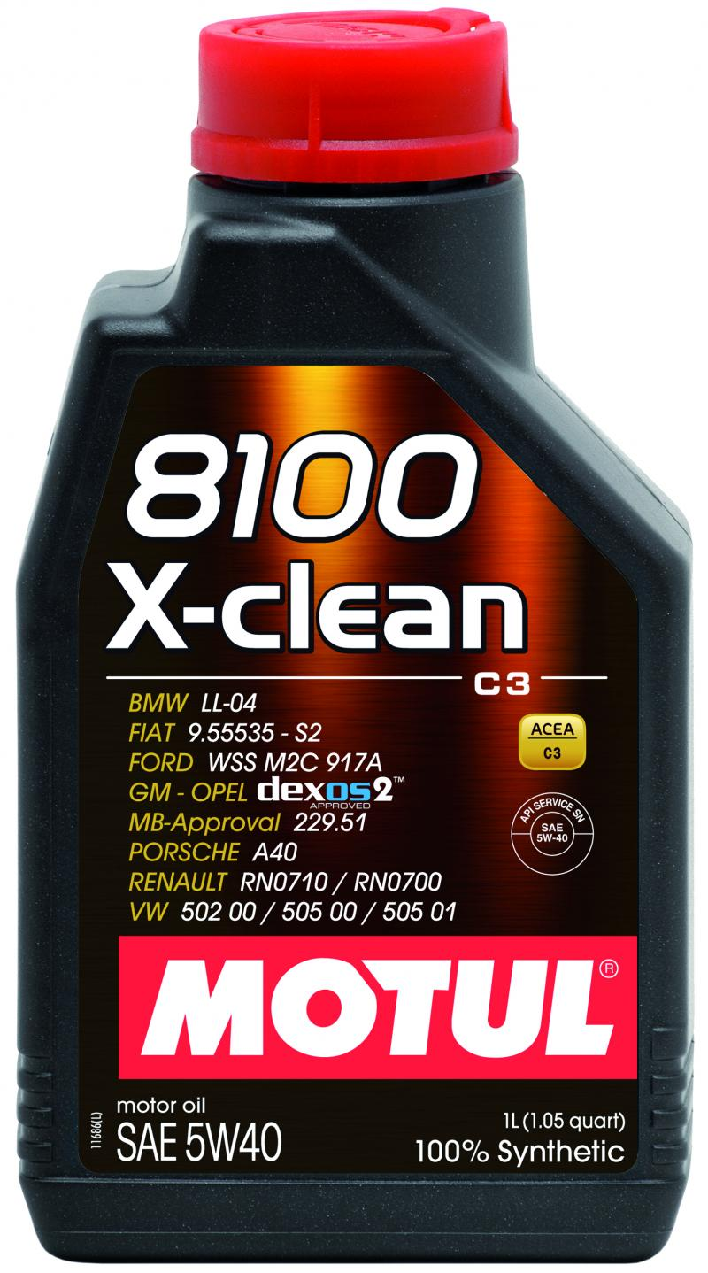 Motul 8100 X-CLEAN 5W40 – 1L – Synthetic Engine Oil