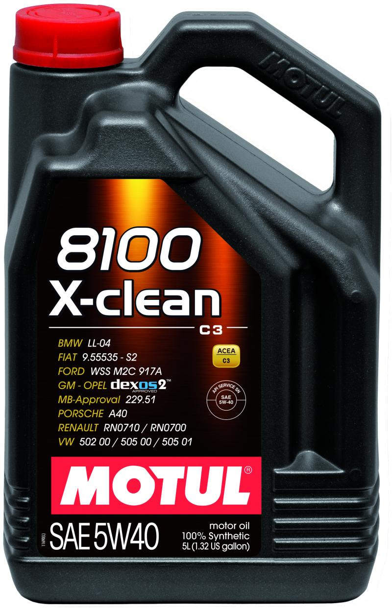Motul 8100 X-CLEAN 5W40 – 5L – Synthetic Engine Oil