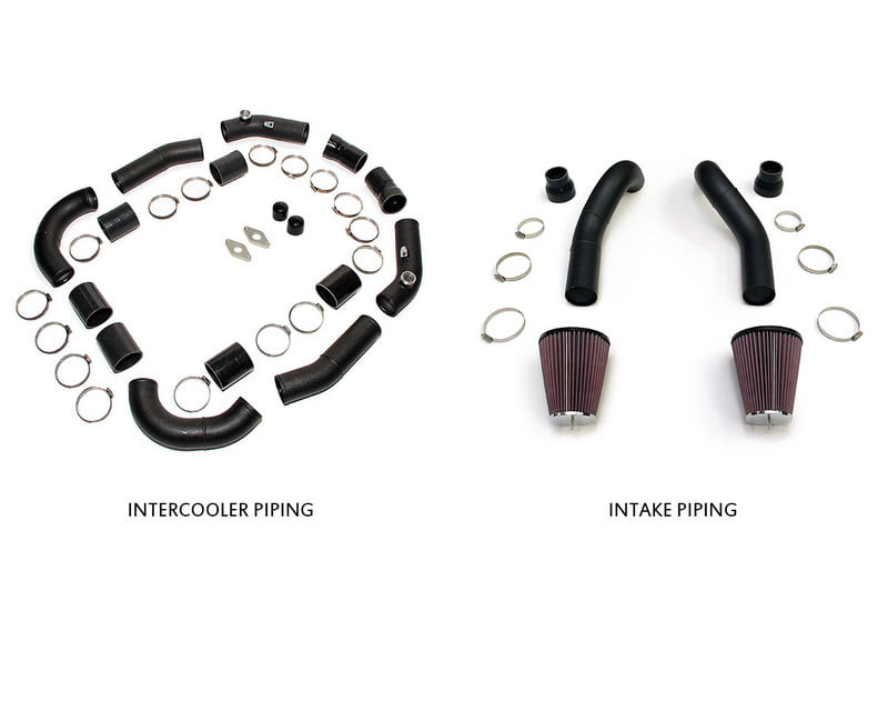 AMS Performance Black Induction Kit for Stock Turbos Alpha Intercooler and TiAL BOV Flanges Nissan GT-R R35 09-20