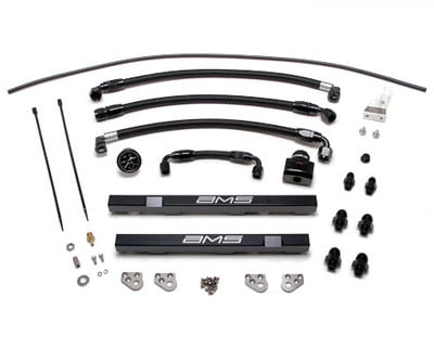 AMS Performance Alpha Fuel Rail Kit with Regulator Black Nissan GT-R R35 09-20