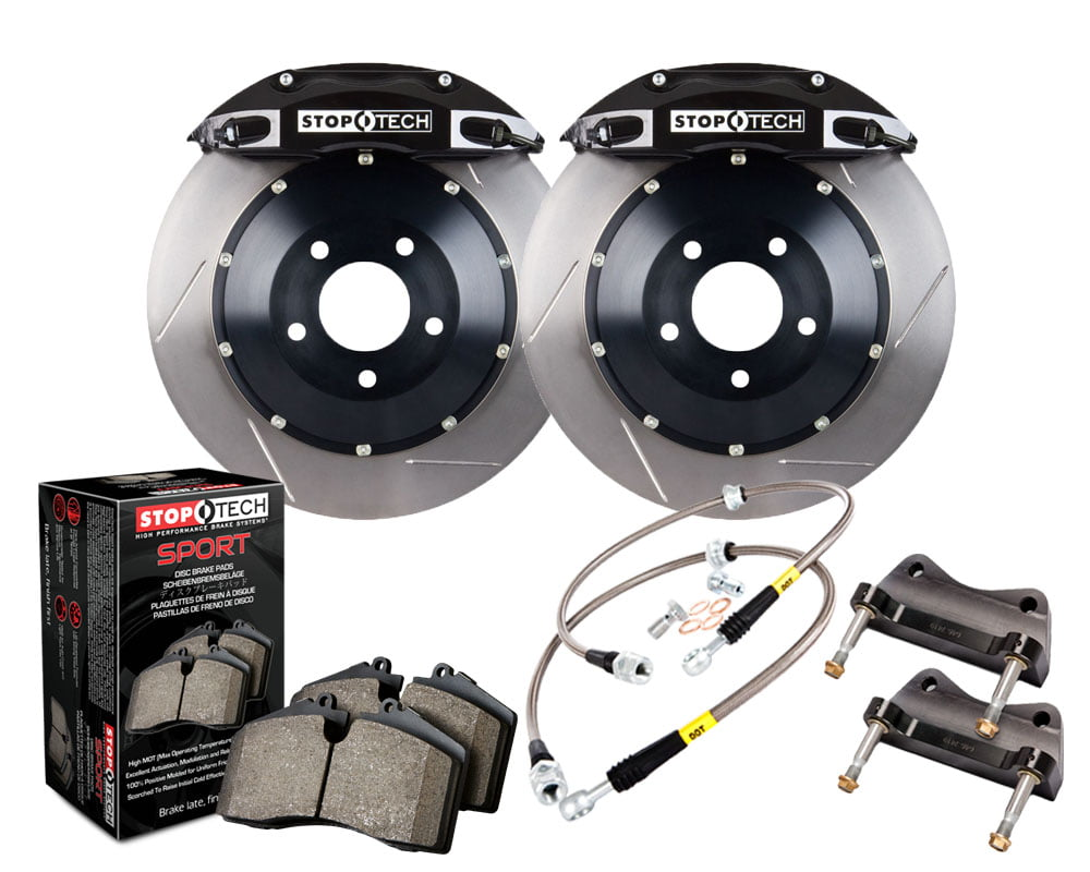 StopTech Big Brake Kit; Black Caliper; Slotted Two-Piece Rotor; Front Audi Front Model #83.100.4700.51