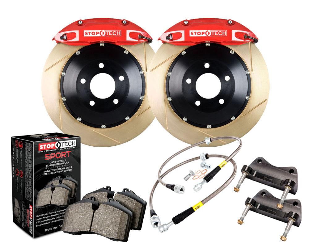 StopTech Big Brake Kit; Black Caliper; Slotted Two-Piece Rotor; Front BMW Front Model #83.133.4600.73