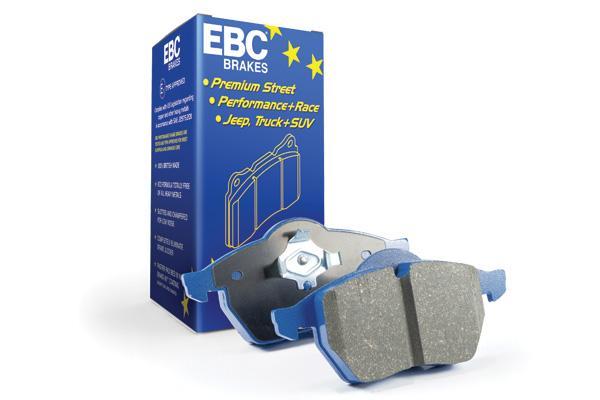 EBC Bluestuff NDX Trackday Brake Pad Set to fit Rear for MITSUBISHI Lancer Evo 10 2.0 Turbo2008-2016