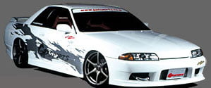 GP Sports Side Step 01 Nissan Skyline Coupe R32 89-94