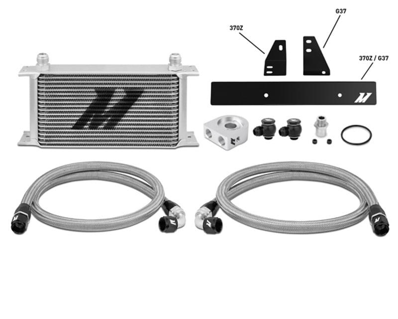Mishimoto Silver Oil Cooler Kit Nissan 370Z 3.7L 09-14