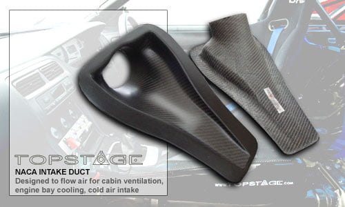 Carbon Fibre Naca Ducts by Topstage Composites