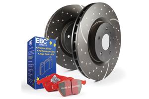 EBC Brakes Pad and Disc Kit to fit Rear for AUDI TT quattro 8J 2.0 Turbo 272BHP2008-2014, AUDI TT quattro 8J 3.2 250BHP2006-2010 (PD12KR044)