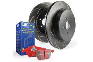 EBC Brakes Pad and Disc Kit to fit Rear for AUDI TT quattro 8N 1.8 Turbo 180BHP99-2006 (PD17KR061)