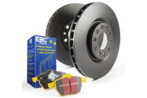 EBC Brakes Pad and Disc Kit to fit Front for BMW 3 Series (E36) 316 1.691-2000, BMW Z3 1.8 116BHP95-98, BMW Z3 1.9 140BHP97-2003 (PD03KF180)