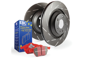 EBC Brakes Pad and Disc Kit to fit Rear for FORD Focus (Mk2) 2.5 Turbo RS 305BHP2009-2011, FORD Focus (Mk2) 2.5 Turbo RS 500 350BHP2010-2011 (PD07KR090)