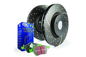 EBC Brakes Pad and Disc Kit to fit Rear for AUDI TT quattro 8J 3.2 250BHP2006-2010
