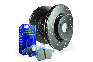 EBC Brakes Pad and Disc Kit to fit Rear for AUDI TT quattro 8J 2.0 Turbo 272BHP2008-2014, AUDI TT quattro 8J 3.2 250BHP2006-2010 (PD14KR233)