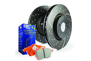 EBC Brakes Pad and Disc Kit to fit Rear for AUDI TT quattro 8J 2.0 Turbo 272BHP2008-2014, AUDI TT quattro 8J 3.2 250BHP2006-2010 (PD15KR233)