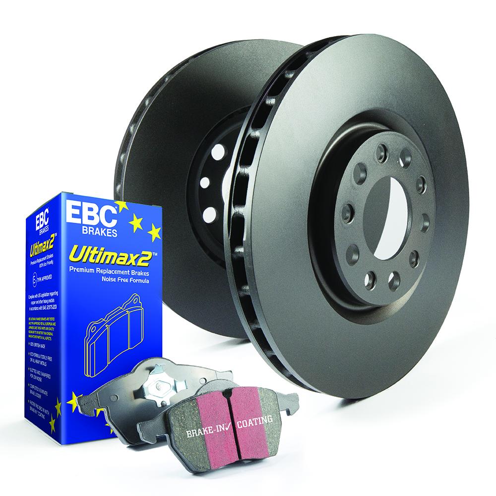 EBC Brakes Pad and Disc Kit to fit Front for MINI Mini Convertible (F57) 2.0 TD 170BHP2016-, MINI Mini Convertible (F57) 2.0 Turbo 192BHP2016- (PDKF2361)
