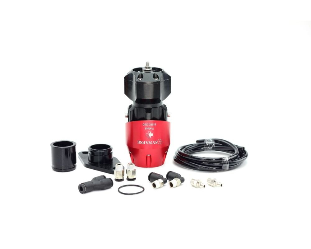 Synapse Engineering Red/Black Synchronic Blow off Valve Kit Nissan Skyline GTS R32/R33/R34 89-02
