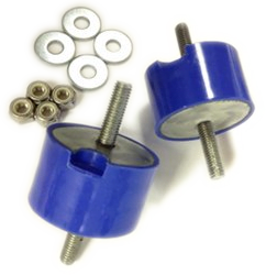 UUC Motorwerks Blue Isolated Transmission Mount Pair Bushings BMW E36 | E46 All Models
