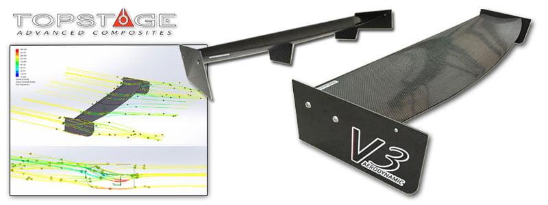 Carbon Fibre Motorsport Wing V3 – TopStage Composites
