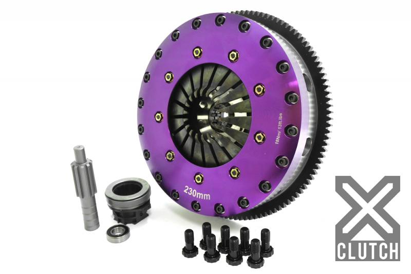 XClutch Clutch Kit with Chromoly Flywheel 9-Inch and Twin Carbon Blade Clutch Discs BMW
