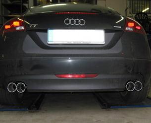 Eisenmann Stainless Axleback Exhaust 4x83mm Round Tips Audi TT Quattro 3.2L 07-13