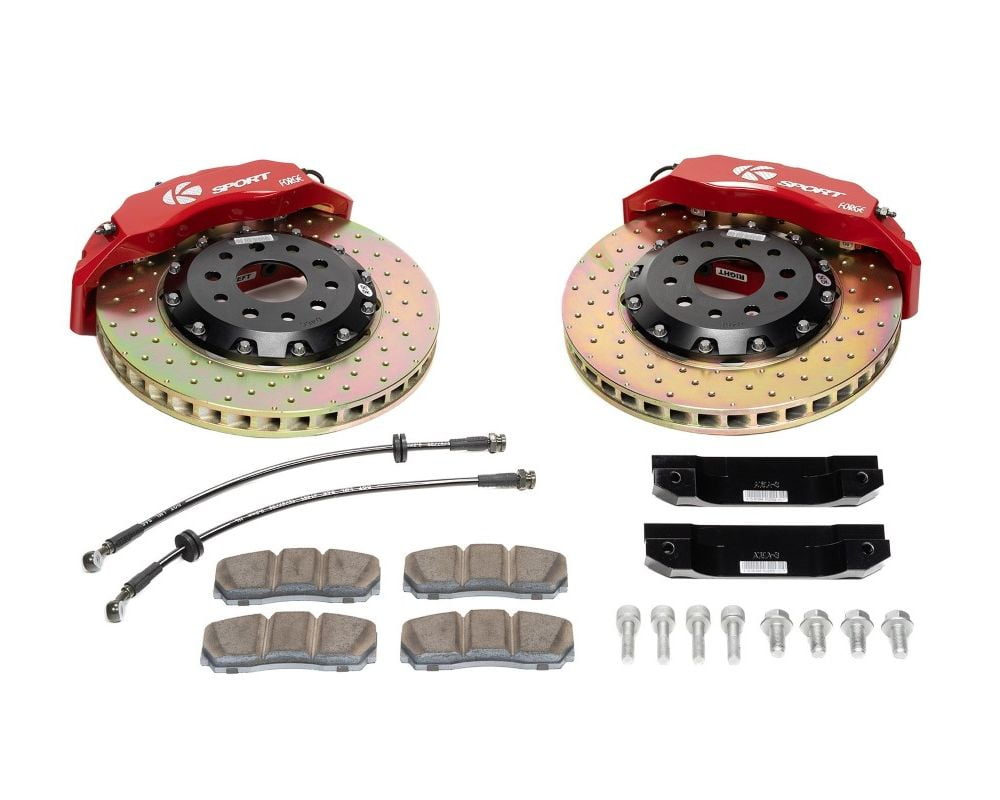 Ksport Supercomp 8 Piston 421mm Front Big Brake Kit – Drilled BMW Z3 1996-2002 Model #BKBM061-971CO