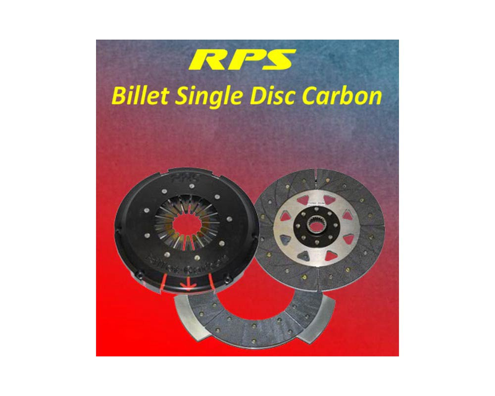 RPS 21lbs Billet Strapless Single Disk Carbon Clutch with Aluminum Fly BMW E36 M3 94-99