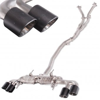 "Nissan R35 GTR 3.5"" Turbo Back Valvetronic Exhaust System With 5"" Tailpipes"