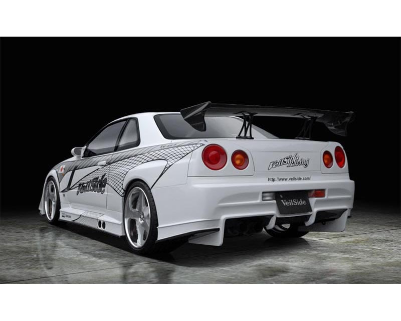 VeilSide 1999-2002 Nissan Skyline GTR BNR34 JDM GT WING CARBON (CFRP)